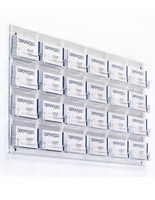 Clear 24-Pocket Wall Business Card Holder for Stores
