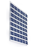 Clear 48-Pocket Business Card Wall Rack, Acrylic