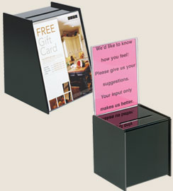 Business card collector box gallery card design and card template business card holders single or multi card cases display racks card collection storage drop boxes reheart colourmoves Images