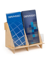 2 Pocket Brochure Holder with Side by Side Design