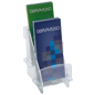 Dual Pocket Tiered Knock Down Brochure Holder