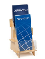 Collapsible Leaflet Holder with Acrylic Front Panel
