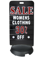 24 x 47 Black Deluxe Sidewalk Sign Board with Letter Set