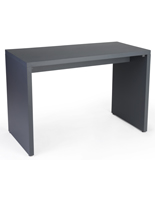 Large Gray Block Nesting Console Table