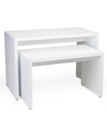White Nesting Retail Display Console Set with Floor Levelers