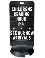 24 x 47 Black Sidewalk Sign Board is Double Sided