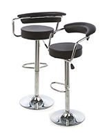 Bar Stool with Gas Lift & Backrest