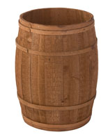 Light Brown Round Cedar Bin