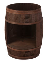Bourbon Barrel Display Case with Cutout