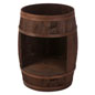 Bourbon Barrel Display Case with Dark Brown Stain