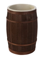 Wooden Food Storage Barrel with Oak Bands