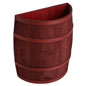 Cranberry Stained Half Barrel with Cedar