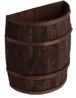 Stained Half Barrel with Oak Bands