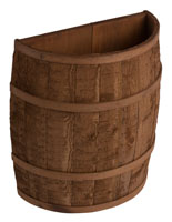 Flat Backed Barrel with Light Brown Stain