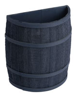 Navy Blue Barrel Display with Cedar Staves