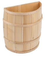 Cedar and Oak Decorative Storage Barrel