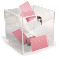 Business card drop boxes ballot collection bins business card drop box colourmoves