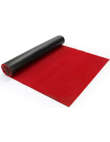 20-ft roll red carpet runner with ribbed fabric