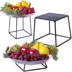 buffet display stands restaurant catering merchandising displays rh displays2go com buffet risers and stands australia Banquet Buffet Risers