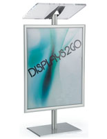 Floor Standing Silver Economy Lectern with Poster Frame