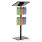 "44""h Black Minimalist Podium with Leaflet Pockets"
