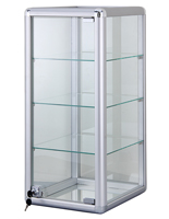 Radius Edge Aluminum Countertop Display Case