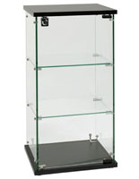 Countertop Glass Display Case wtih 2 Interior Shelves