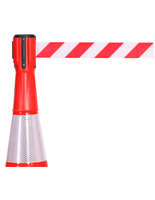 Traffic Cone Retractable Belt Topper, 10' Strap