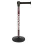 Custom Stanchion Post with Black Belt and 4-Way Adapter