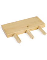 Natural Finish Dowel Peg Display Shelf