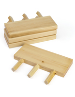 Wooden Dowel Peg Slatwall Display Shelves