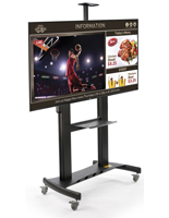 All-in-One Digital Sign Stand with Shelf