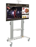 Digital Signage Station with AV Shelf
