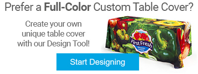 Custom printed table cover design tool