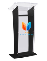 UV printed clear replacement panel for CVWD series lecterns with full color custom graphics