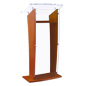 Silver Attaching Standoffs Maple Wood Public Speaking Stand