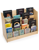 Kid's Book Display with Sloped Shelving