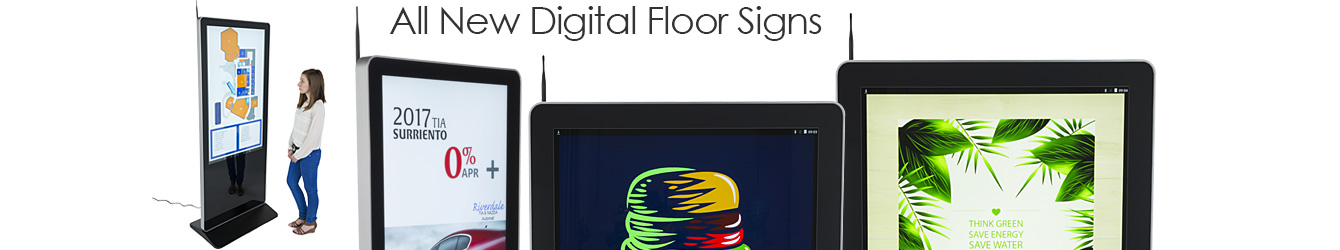 Floor-Standing Digital Sign Displays