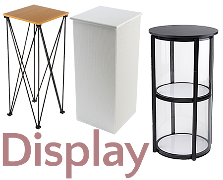 Collapsible Display Stands. Portable Display Cases