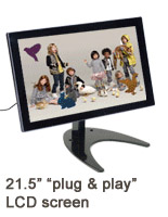"Digital Photo Frame Display w/ 21.5"" Player"