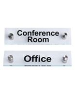 """Conference Room""/""Office"" Door Signs with Green Edging"