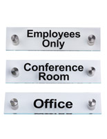 Acrylic Business Standoff Signs, Set of 3
