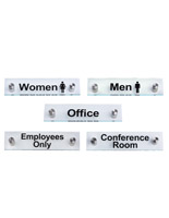 "Acrylic Office Room Signs, 8"" Overall Width"