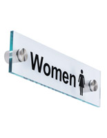 """Women"" Bathroom Sign, Acrylic"