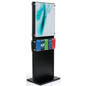 Dual 22 x 28 Black Wooden Poster Stand with Acrylic Panel