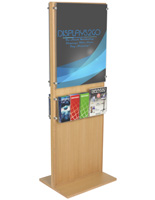 "Double-Sided Poster Stand With 10 Brochure Holders for 22"" x 28"" Graphics"