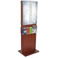 Double-Sided Poster Pedestal With 10 Leaflet Pockets for Travel Agencies