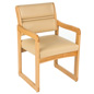 Cream Waiting Area Chair, Supports Up to 400 lbs