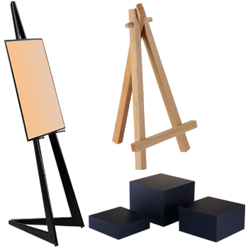 easels and display risers for memorial services