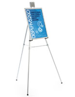 "Silver Easel Stand with 18"" x 24"" Snap Frame with Rubber Arm Brackets"